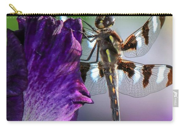 Dragonfly On Iris Carry-all Pouch