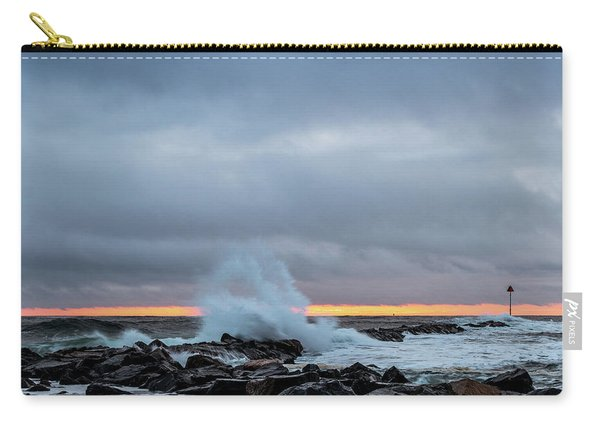 Carry-all Pouch featuring the photograph Dramatic Beginnings. by Jeff Sinon