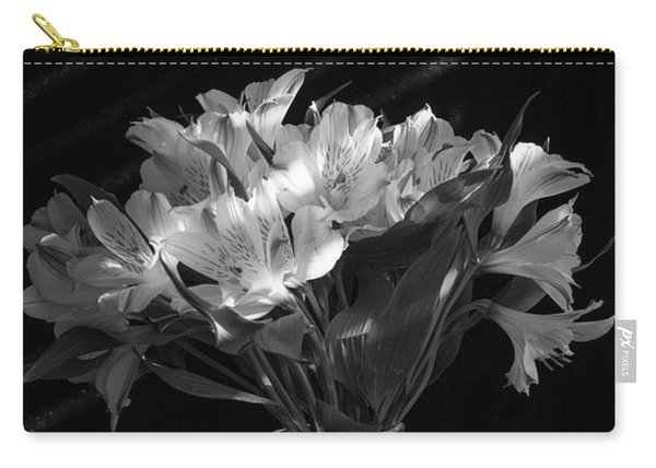 Dramatic Flowers-bw Carry-all Pouch