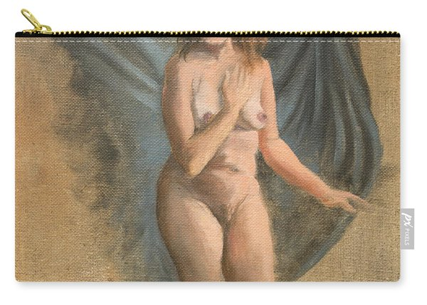 Carry-all Pouch featuring the painting Drapes Become Wings by Break The Silhouette