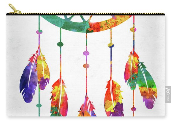 Dream Catcher Colorful Watercolor Carry-all Pouch