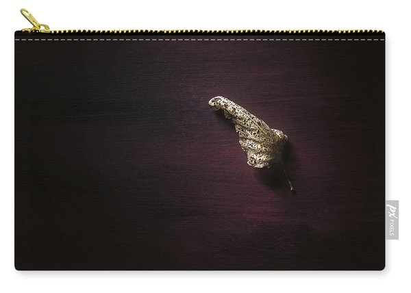 Dry Leaf On Muted Red Carry-all Pouch
