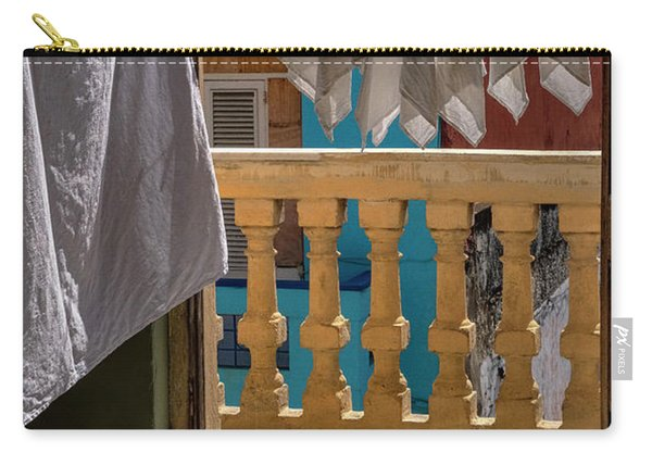 Carry-all Pouch featuring the photograph Drying Napkins by Tom Singleton