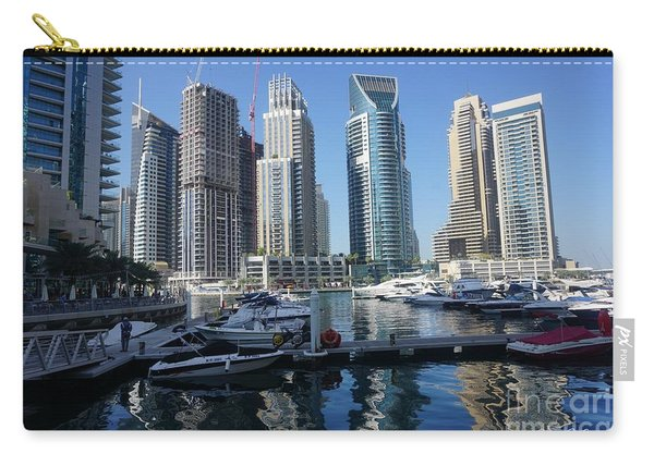 Carry-all Pouch featuring the photograph Dubai Marina by Jimmy Clark