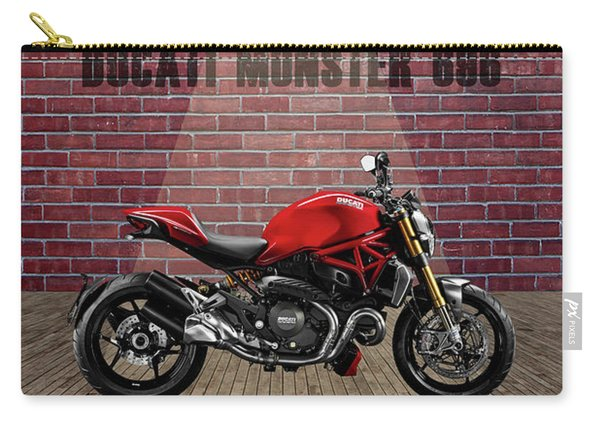 Ducati Monster 696 Red Wall Carry-all Pouch