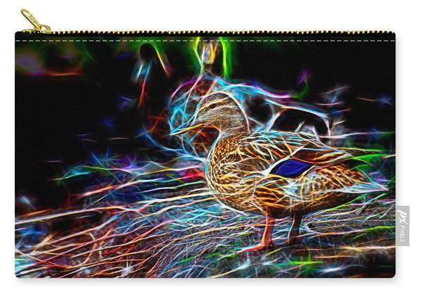 Carry-all Pouch featuring the photograph Ducks On Shore Wizard by Don Northup