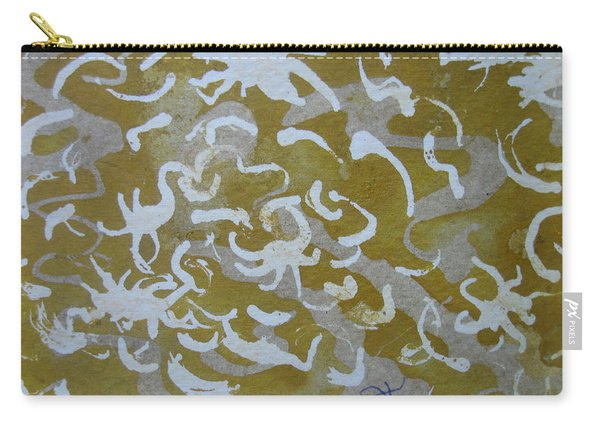 Dull Yellow With Masking Fluid Carry-all Pouch