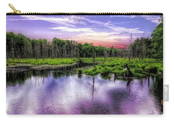 Dusk Falls Over New England Beaver Pond. Carry-all Pouch