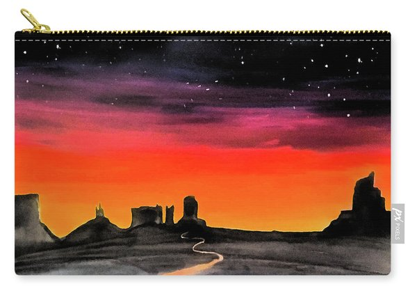 dusk in Monument Valley Carry-all Pouch