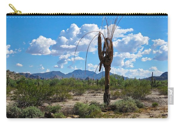 Dying Saguaro In The Desert Carry-all Pouch