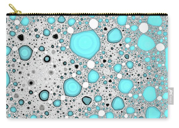Carry-all Pouch featuring the digital art Dynamic Moonscape Blue Abstract Art by Don Northup