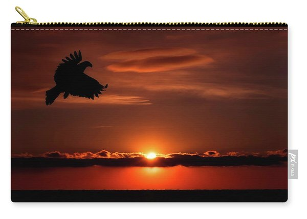 Eagle In A Red Sky Carry-all Pouch