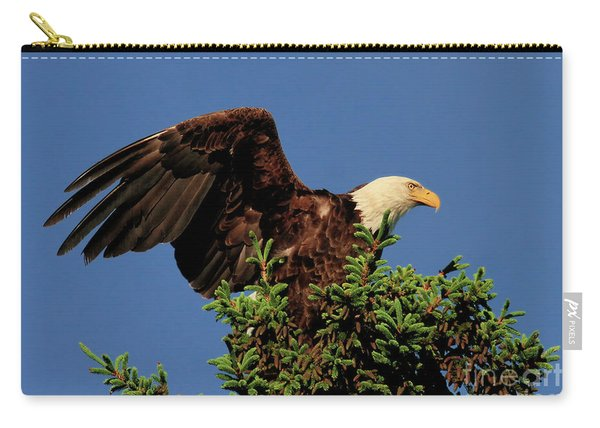 Eagle In Treetop Carry-all Pouch