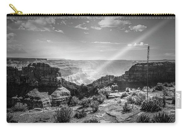 Eagle Rock, Grand Canyon In Black And White Carry-all Pouch