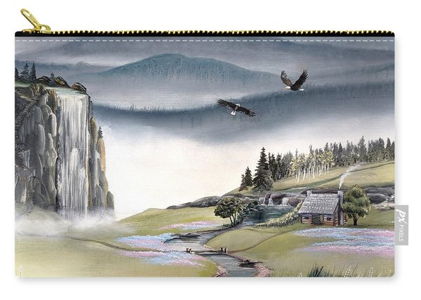 Carry-all Pouch featuring the painting Eagle View by Deleas Kilgore