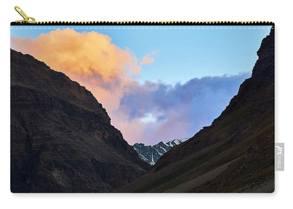 Carry-all Pouch featuring the photograph Early Morning Clouds In Sarchu by Whitney Goodey