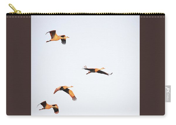 Carry-all Pouch featuring the photograph Early Morning Flight by Jean Clark
