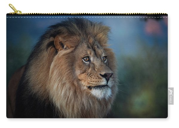 Early Morning Lion Portrait Carry-all Pouch
