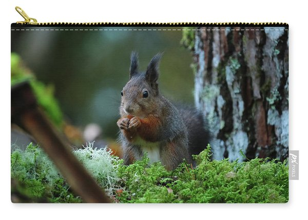 Eating Squirrel Carry-all Pouch