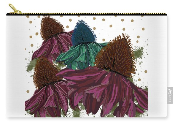 Echinacea Flower Skirts Carry-all Pouch