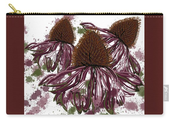 Echinacea Flowers Line Carry-all Pouch