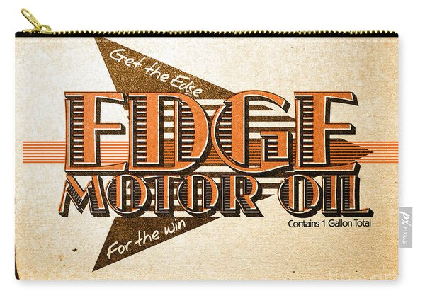 Edge Motor Oil Tin Sign Carry-all Pouch