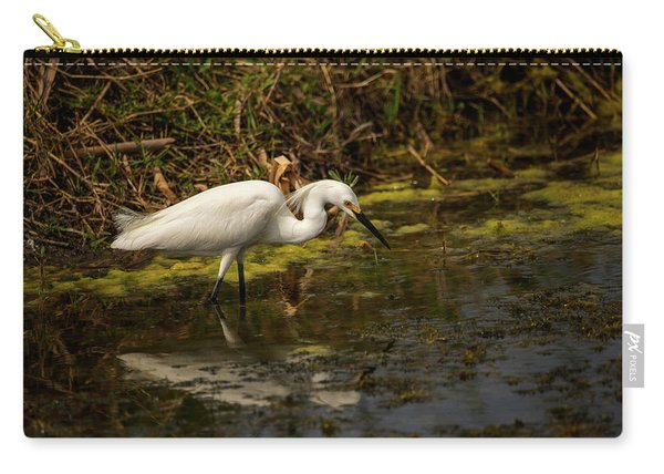 Egret Hunts Carry-all Pouch