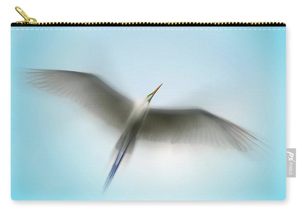 Egret In Motion Carry-all Pouch