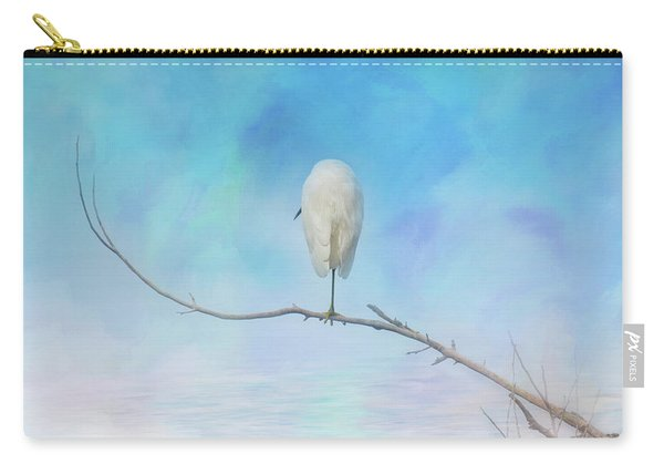 Egret On A Branch Carry-all Pouch