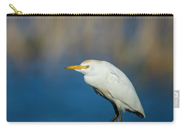 Egret On A Stick Carry-all Pouch