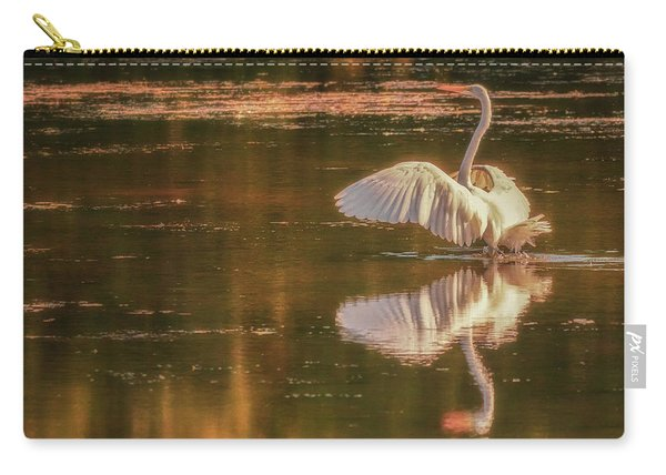 Egret Reflections 2 Carry-all Pouch
