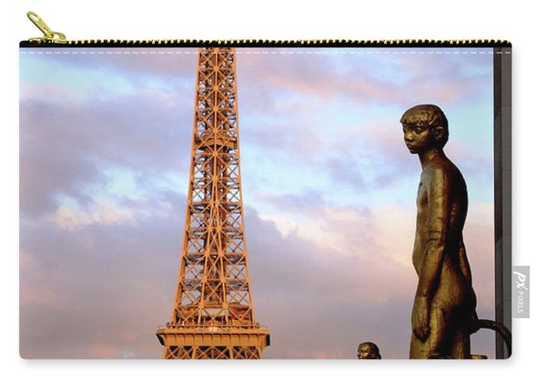Eiffel Tower At Sunset Carry-all Pouch
