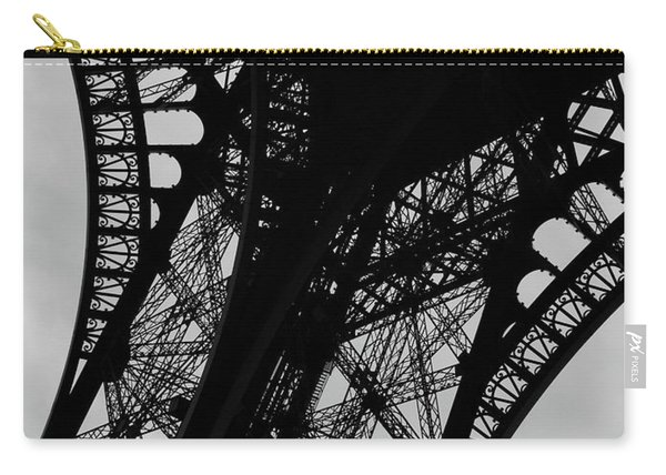 Carry-all Pouch featuring the photograph Eiffel Tower, Base by Edward Lee