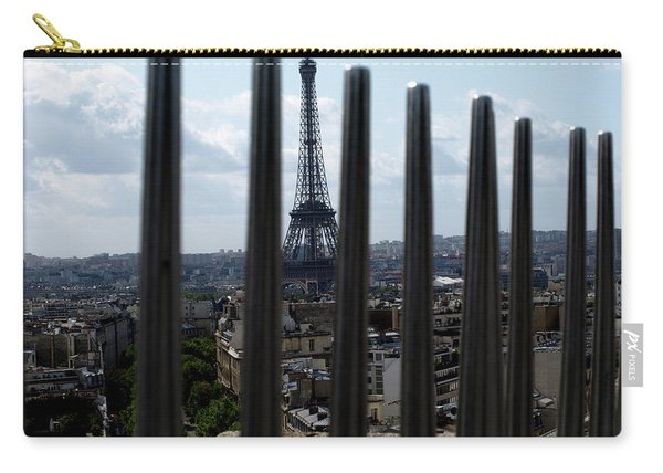 Carry-all Pouch featuring the photograph Eiffel Tower, Distant by Edward Lee