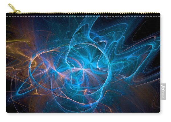 Carry-all Pouch featuring the digital art Electric Universe Blue by Don Northup