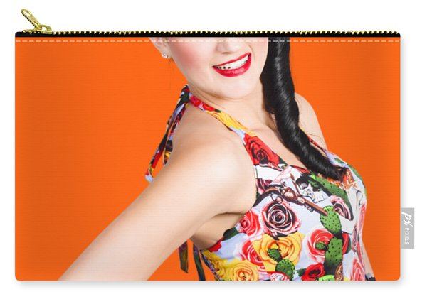 Elegant Latino Dancer Girl Performing Salsa Dance Carry-all Pouch