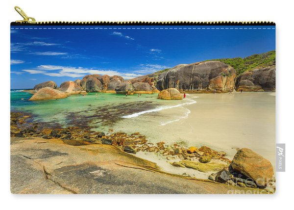 Carry-all Pouch featuring the photograph Elephant Cove Beach by Benny Marty