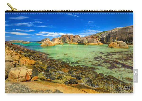 Carry-all Pouch featuring the photograph Elephant Rocks In William Bay by Benny Marty