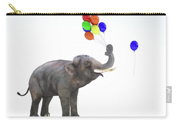 Elephant With Balloons Carry-all Pouch