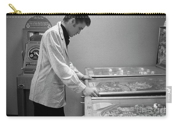 Elvis Presley Playing Pinball 1956 Carry-all Pouch