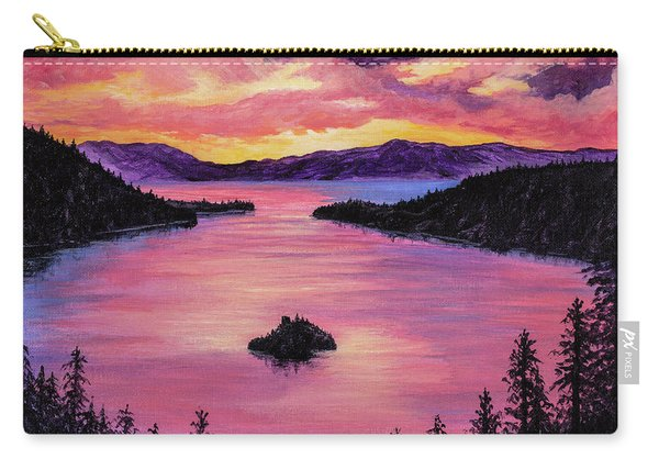 Emerald Bay Sunset Carry-all Pouch