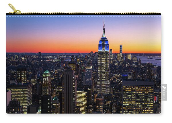 Empire State Building And Lower Manhattan At Sunset Carry-all Pouch