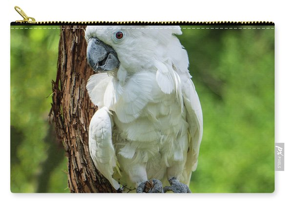 Endangered White Cockatoo Carry-all Pouch
