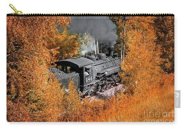 Carry-all Pouch featuring the photograph Chugging Along by Susan Warren