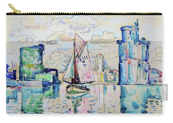 Entrance To The Harbor Of La Rochelle - Digital Remastered Edition Carry-all Pouch