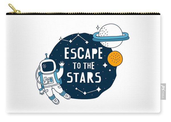 Escape To The Stars - Baby Room Nursery Art Poster Print Carry-all Pouch