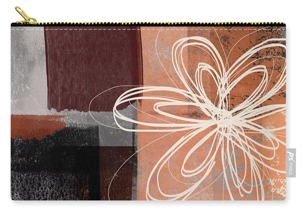 Espresso Flower 1-  Art By Linda Woods Carry-all Pouch