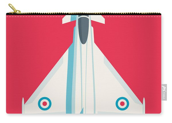 Typhoon Jet Fighter Aircraft - Crimson Carry-all Pouch