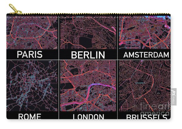 European Capital Cities Maps Carry-all Pouch