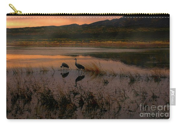 Carry-all Pouch featuring the photograph Evening Duet by Susan Warren